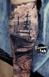 ลายสัก รอยสัก Titanic
